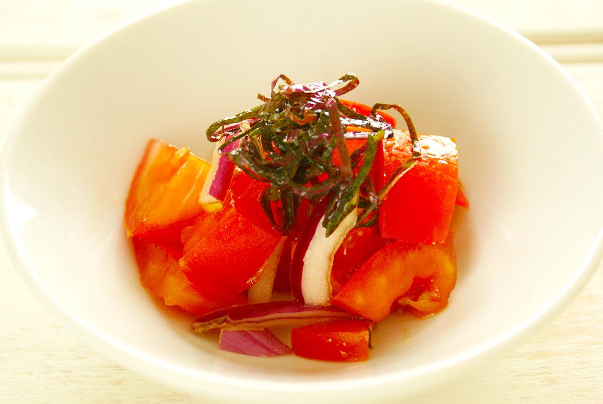 紫蘇トマト玉ねぎサラダ
