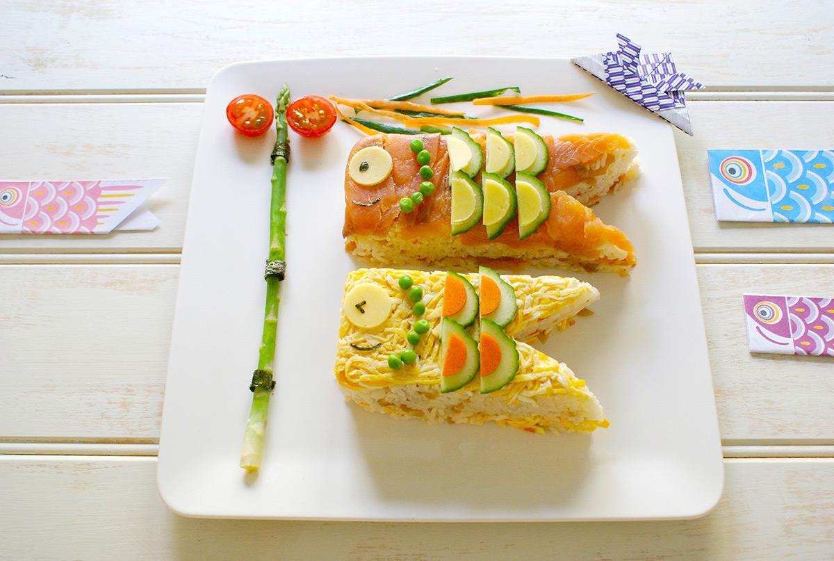 牛乳パックでつくる鯉のぼり寿司