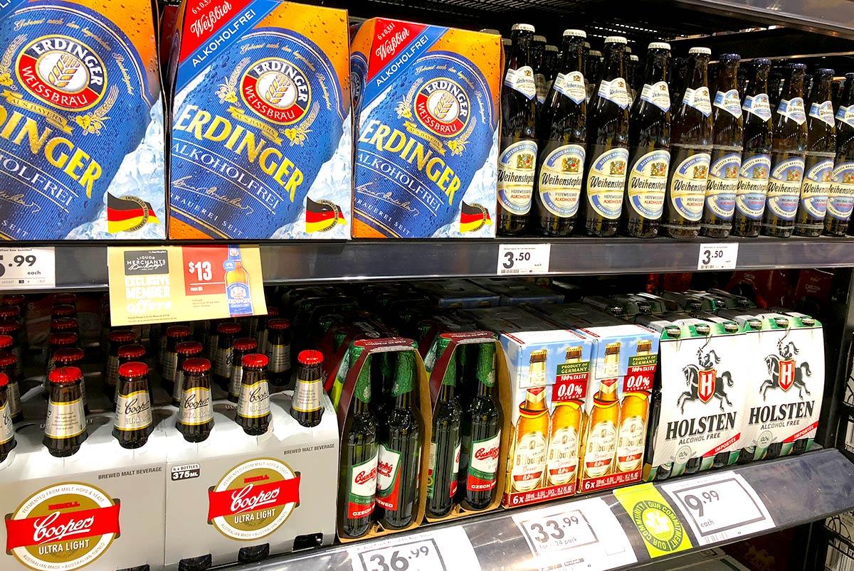 オーストラリアで買えるノンアルコールビール