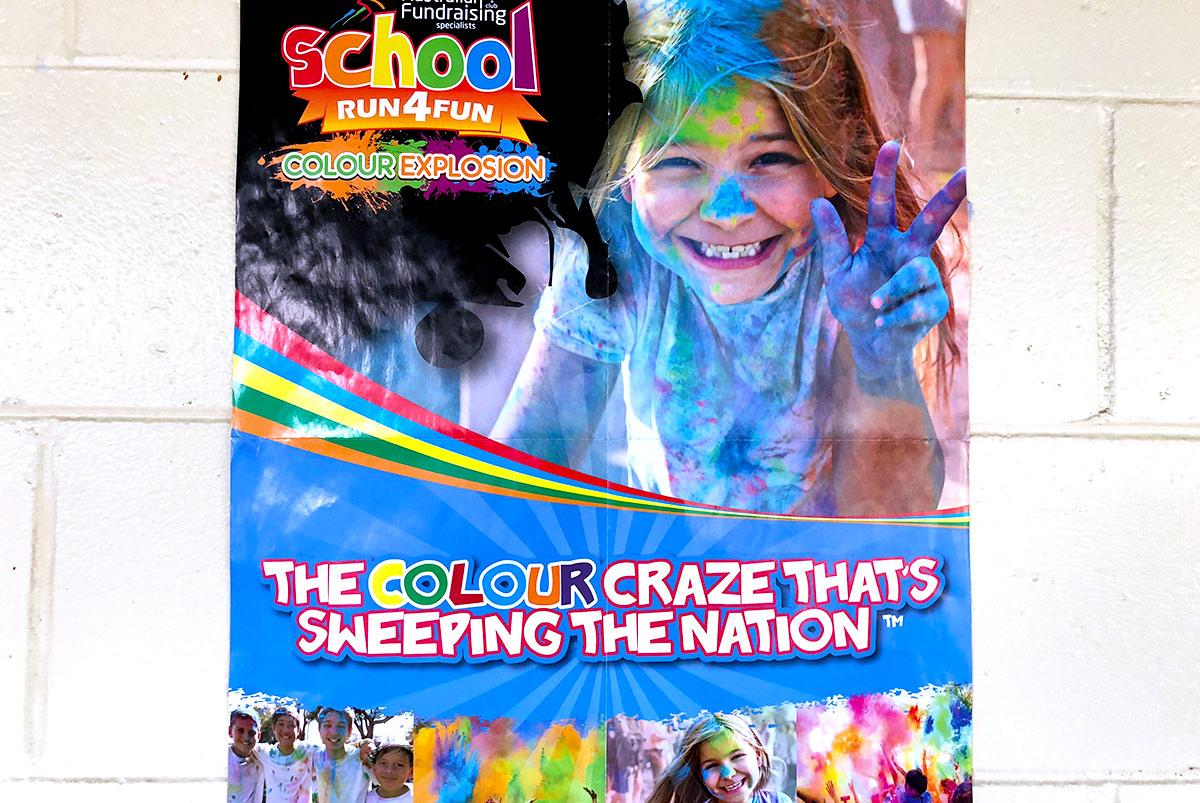 オーストラリアの小学校でカラーラン