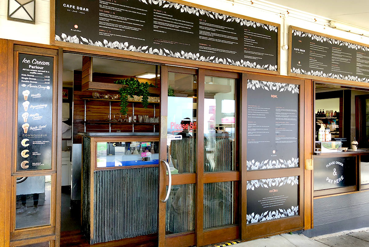 ポイントデンジャーにあるカフェ