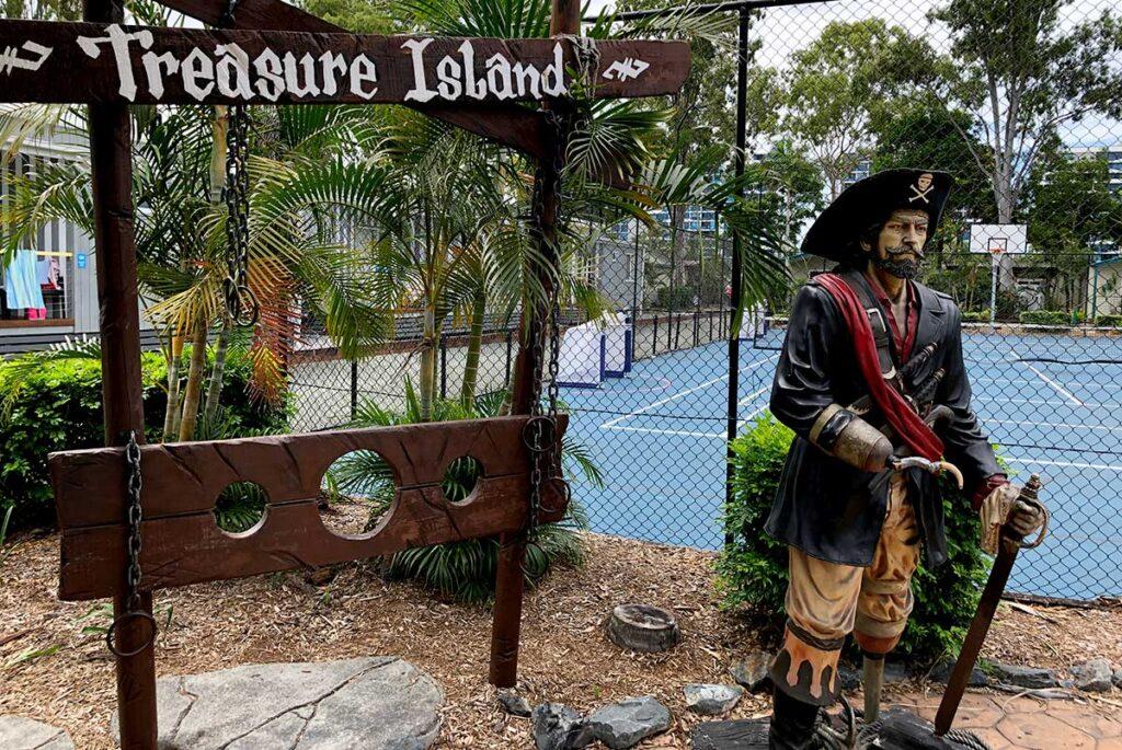 ゴールドコーストのキャンプ場Treasure Island